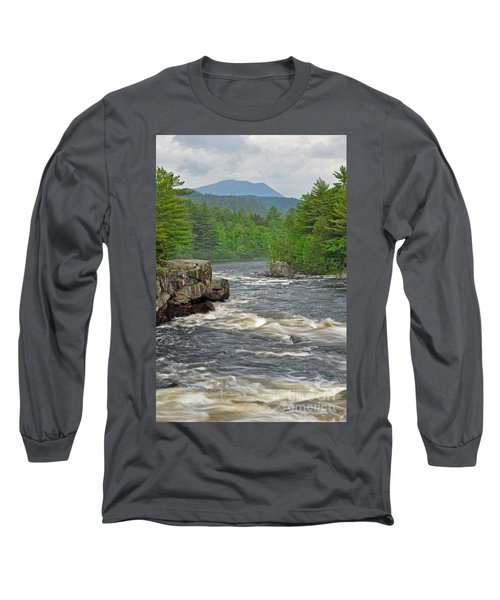Katahdin And Penobscot River Long Sleeve T-Shirt