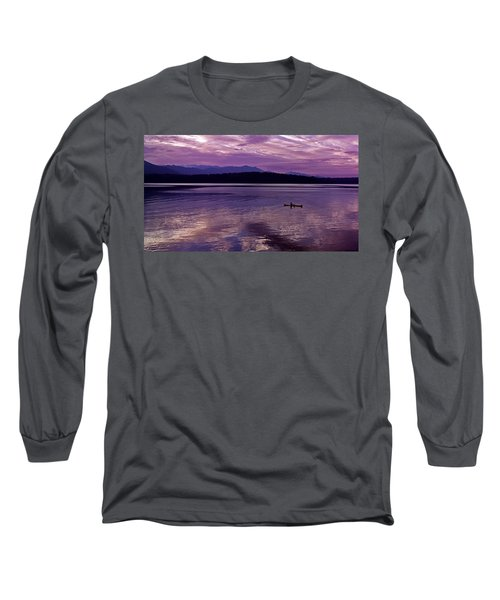 Long Sleeve T-Shirt featuring the photograph Kayak On Dabob Bay by Greg Reed
