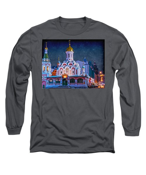 Kazan Cathedral. Red Square. Moscow Russia Long Sleeve T-Shirt by Juli Scalzi