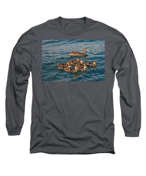 Long Sleeve T-Shirt featuring the photograph Keeping Them All Inline by Brenda Jacobs