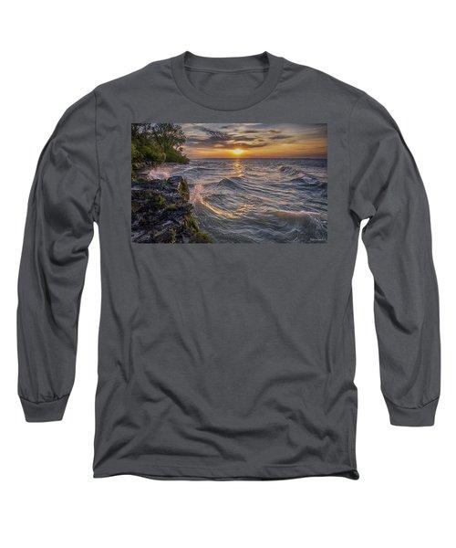 Kelleys Island At Sunset Long Sleeve T-Shirt