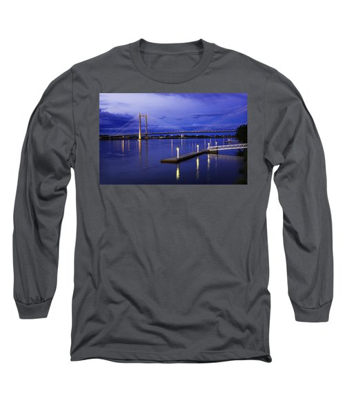 Long Sleeve T-Shirt featuring the photograph Kennewick Bridge 2 by Sonya Lang