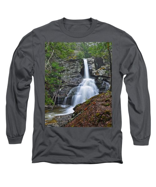 Kent Falls State Park Ct Waterfall Long Sleeve T-Shirt
