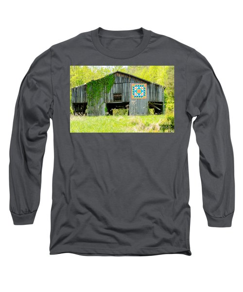 Kentucky Barn Quilt - Thunder And Lightening Long Sleeve T-Shirt