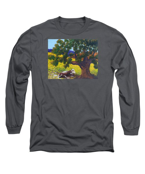 Kern County Cow Long Sleeve T-Shirt by Katherine Young-Beck