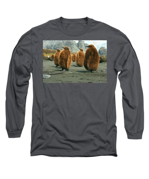 King Penguin Chicks Long Sleeve T-Shirt by Amanda Stadther