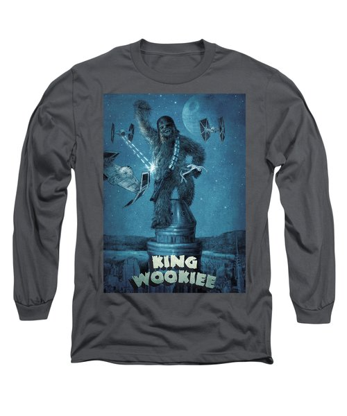 King Wookiee Long Sleeve T-Shirt by Eric Fan