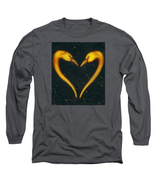 Long Sleeve T-Shirt featuring the painting Kiss by Kenneth Clarke
