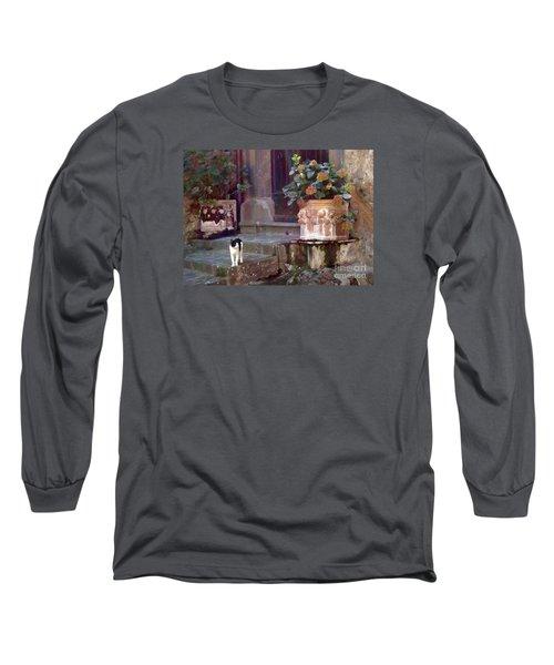 Kitten Italiano Long Sleeve T-Shirt by Barbie Corbett-Newmin