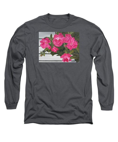 Knock Out Roses Long Sleeve T-Shirt by Wendy Shoults