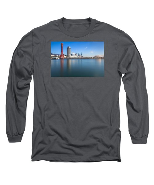 Kobe Port Island Tower Long Sleeve T-Shirt by Hayato Matsumoto