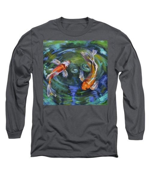 Koi Swirl Long Sleeve T-Shirt by Donna Tuten