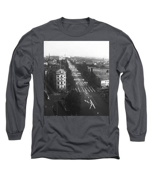 Ku Klux Klan Parade Long Sleeve T-Shirt by Underwood Archives