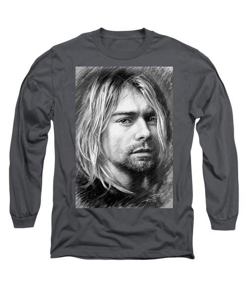 Kurt Cobain Long Sleeve T-Shirt by Viola El