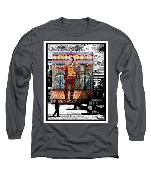 Long Sleeve T-Shirt featuring the digital art La City Beat Digitized by Jennie Breeze