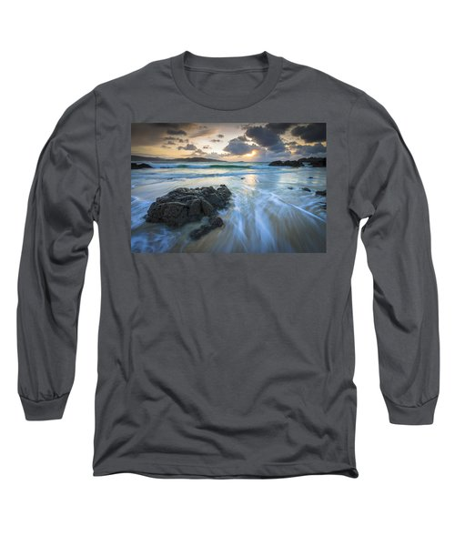 La Fragata Beach Galicia Spain Long Sleeve T-Shirt by Pablo Avanzini