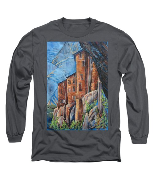 La Rocca Citta Lg Italy Long Sleeve T-Shirt