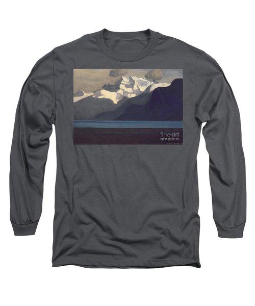 Lac Leman And Les Dents-du-midi Long Sleeve T-Shirt