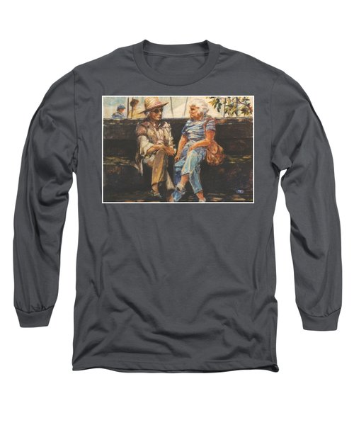 Ladies Of Washington Square Long Sleeve T-Shirt by Walter Casaravilla