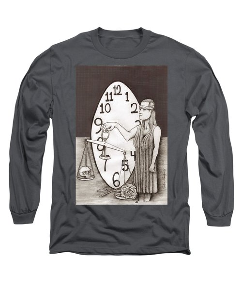 Lady Justice And The Handless Clock Long Sleeve T-Shirt