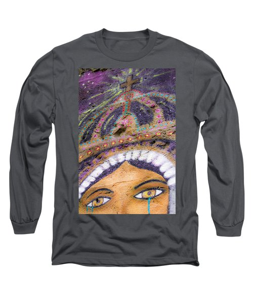 Long Sleeve T-Shirt featuring the photograph Lady Of Tears by Steven Bateson