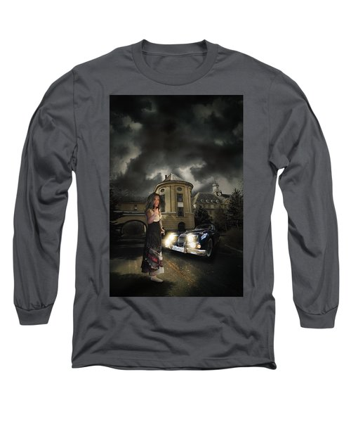 Lady Of The Night Long Sleeve T-Shirt by Nathan Wright