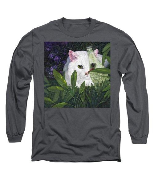 Ladybugs And Cat Long Sleeve T-Shirt
