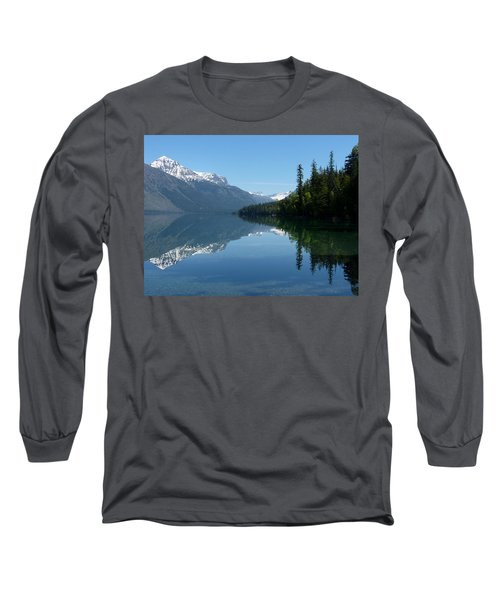 Lake Mcdonald - Glacier National Park Long Sleeve T-Shirt by Lucinda Walter