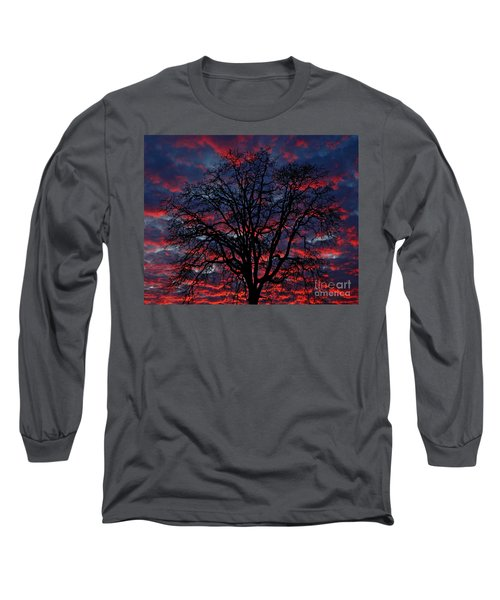 Long Sleeve T-Shirt featuring the photograph Lake Oswego Sunset by Nick  Boren