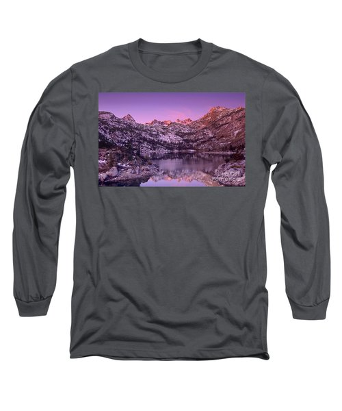 Lake Sabrina Sunrise Eastern Sierras California Long Sleeve T-Shirt by Dave Welling