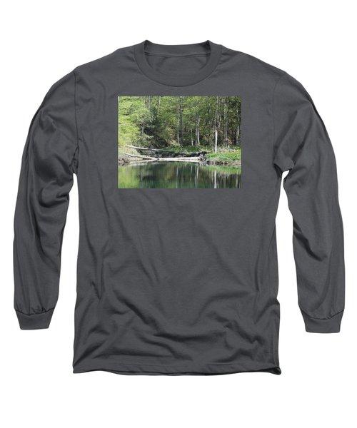 Stillness Long Sleeve T-Shirt by Catherine Gagne