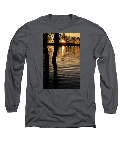 Lake Silhouettes Long Sleeve T-Shirt by Julie Andel