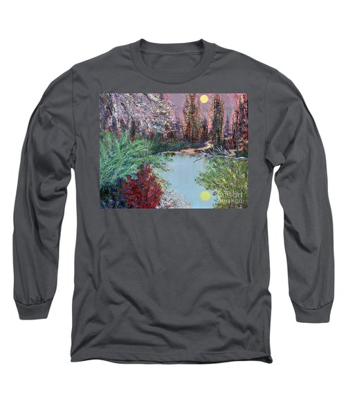 Lake Tranquility Long Sleeve T-Shirt by Alys Caviness-Gober