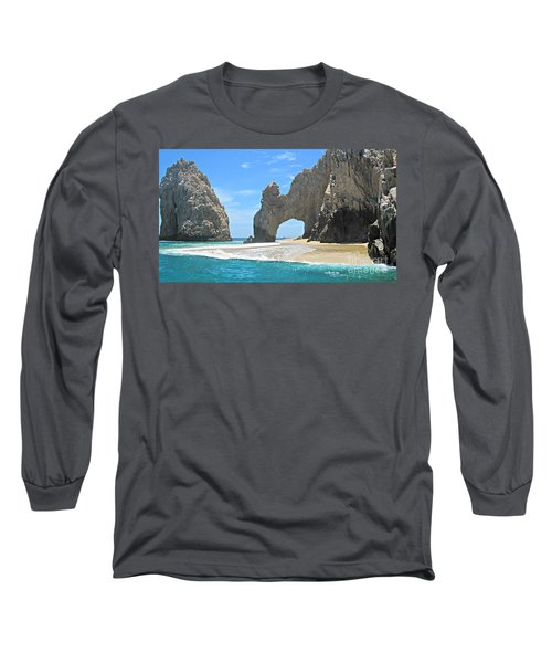 Long Sleeve T-Shirt featuring the photograph Lands End  by Marilyn Wilson