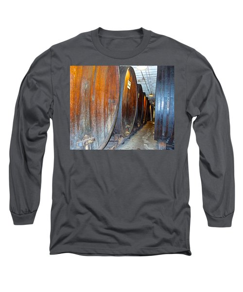 Large Barrels At Korbel Winery In Russian River Valley-ca Long Sleeve T-Shirt