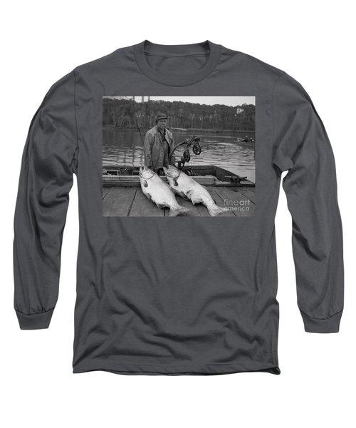Large King Salmon Moss Landing Monterey California  Circa 1955 Long Sleeve T-Shirt