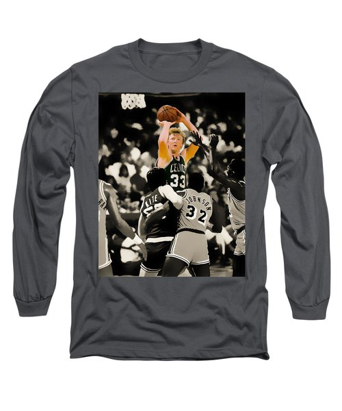 Larry Bird Long Sleeve T-Shirt by Brian Reaves