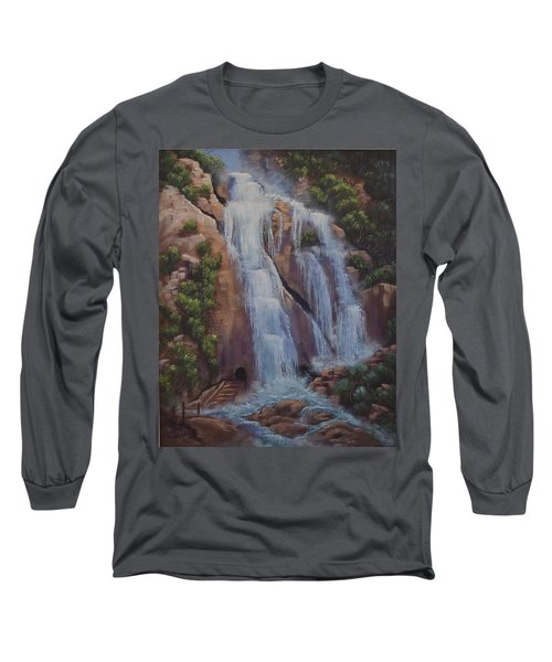 Las Brisas Falls Huatuco Mexico Long Sleeve T-Shirt