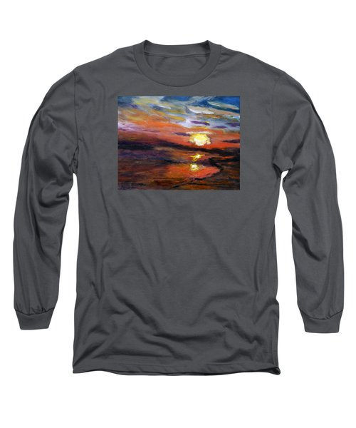 Last Sun Of Day Long Sleeve T-Shirt by Michael Helfen