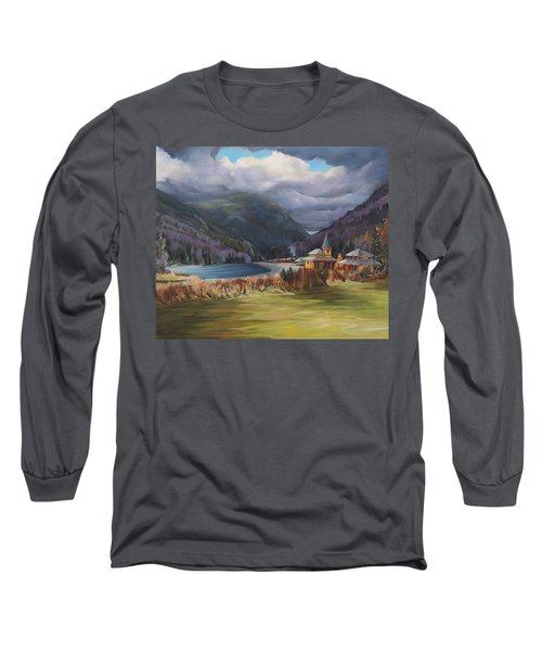 Last Train To Crawford Notch Depot Long Sleeve T-Shirt by Nancy Griswold