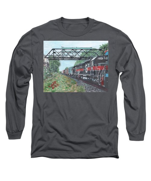 Last Train Under The Bridge Long Sleeve T-Shirt