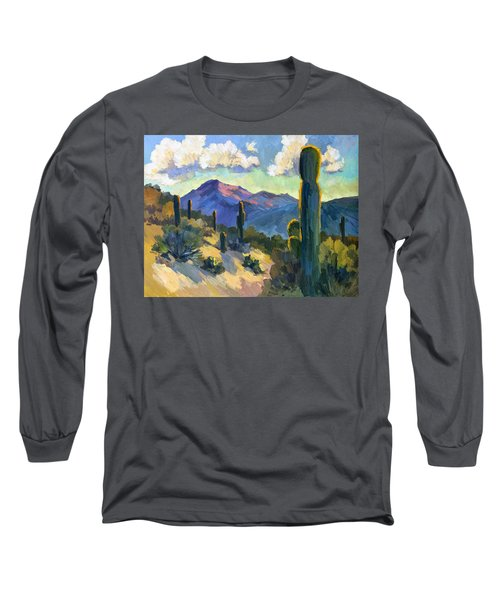 Late Afternoon Tucson Long Sleeve T-Shirt by Diane McClary