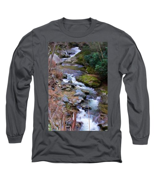 Laurel Creek  Long Sleeve T-Shirt by Tom Culver