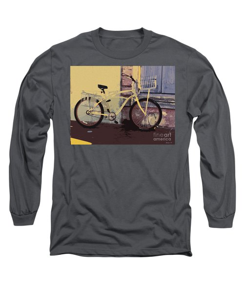 Lavender Door And Yellow Bike Long Sleeve T-Shirt