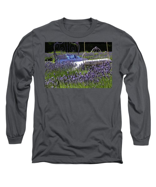 Lavender Dreams Long Sleeve T-Shirt by Cheryl Hoyle