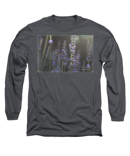 Long Sleeve T-Shirt featuring the photograph Lavender Flare. by Clare Bambers
