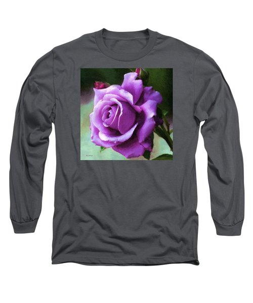 Lavender Lady Long Sleeve T-Shirt by RC deWinter