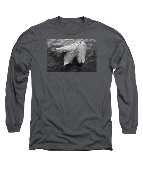Leaf On Glass Long Sleeve T-Shirt