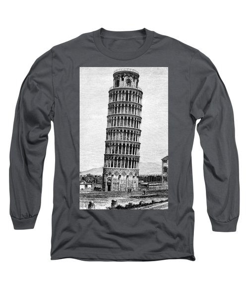 Leaning Tower Of Pisa 1870 Drawing Long Sleeve T-Shirt