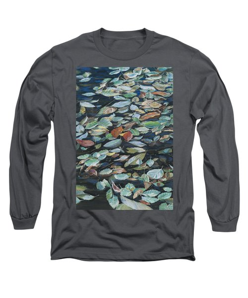 Leaves On Pond Long Sleeve T-Shirt